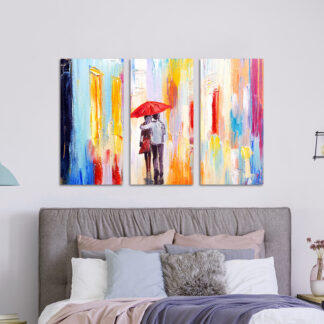 Τρίπτυχος πίνακας σε καμβά Ερωτευμένο Ζευγάρι