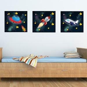 Παιδικοί καμβαδες διάστημα – space