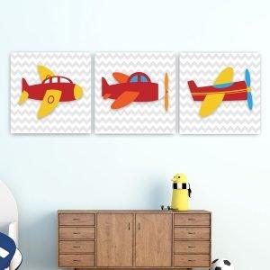 Παιδικοί πίνακες σε καμβά αεροπλανακια νο2