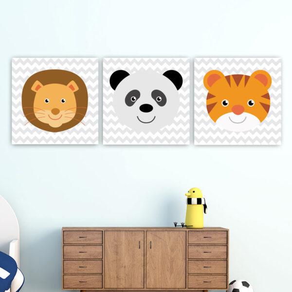 Παιδικοί πίνακες σε καμβά ζωάκια