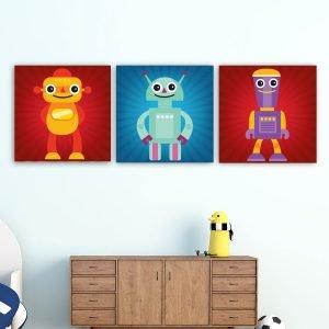 Παιδικοί πίνακες σε καμβά ρομπότ