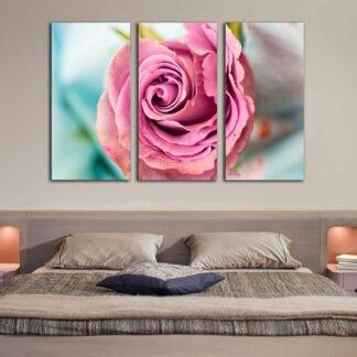 Τρίπτυχος πίνακας σε καμβά Τριαντάφυλλο