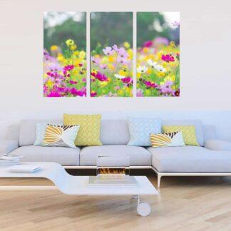 Τρίπτυχος πίνακας με άνθη