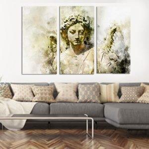 Τριπτυχος πίνακας σε καμβά Άγαλμα
