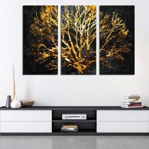 Τρίπτυχος πίνακας χρυσό δέντρο