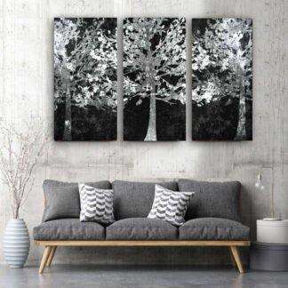 Τρίπτυχος πίνακας Λευκά Δέντρα