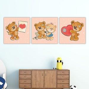 Παιδικοί πίνακες σε καμβά Αρκουδάκια