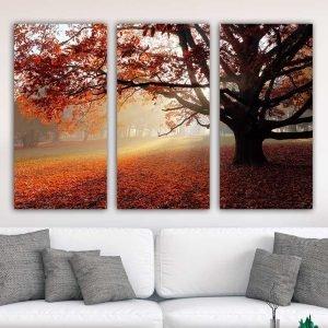 Τρίπτυχος πίνακας Autumn Forest