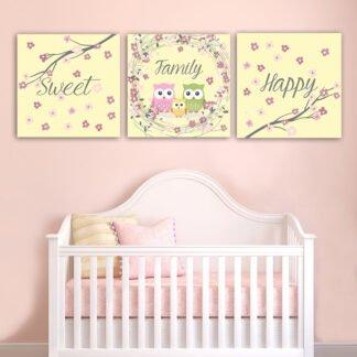 Παιδικοί καμβαδες Happy sweet family