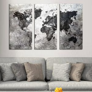 Τρίπτυχος πίνακας Industrial wolrd Map