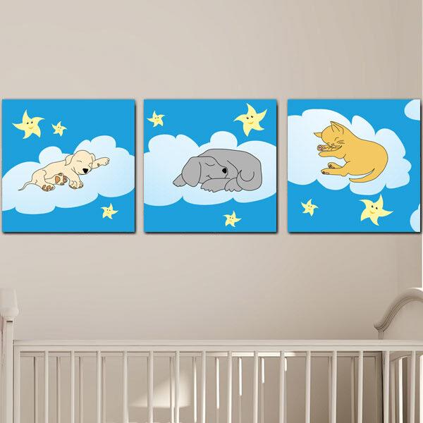 Παιδικοί πίνακες sleeping pets