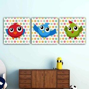 Παιδικοί πίνακες σε καμβά birds