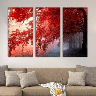 Τρίπτυχος πίνακας Red Forest