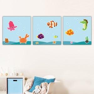 Παιδικοί πίνακες σε καμβά Sea animals no2
