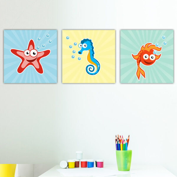 Παιδικοί πίνακες σε καμβά Sea animals