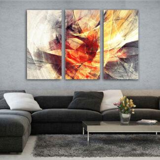 Τρίπτυχος πίνακας Winter Passion