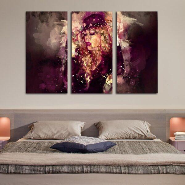 Τρίπτυχος πίνακας σε καμβά Woman