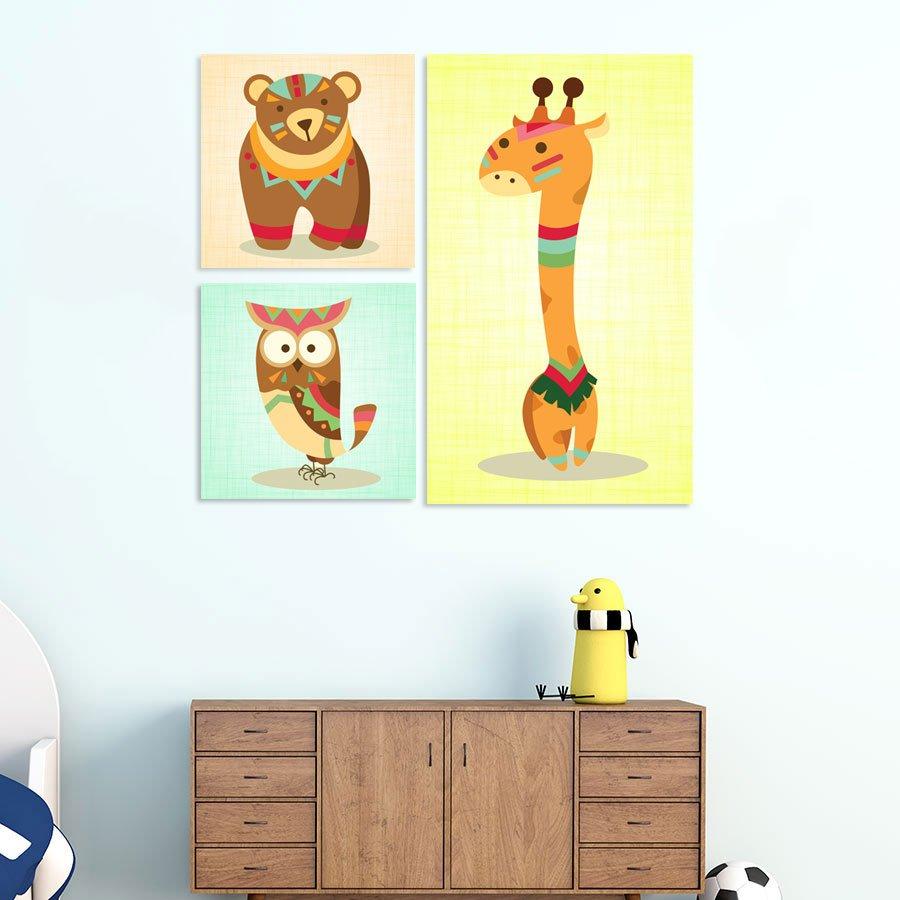 Παιδικοί πίνακες Zoo Animals No3