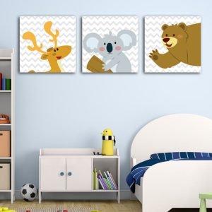 Παιδικοί πίνακες σε καμβά Zoo animals No2