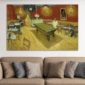 Νυχτερινό Καφενείο – The Night Café, Vincent Van Gogh – Αντίγραφο πίνακας σε καμβά