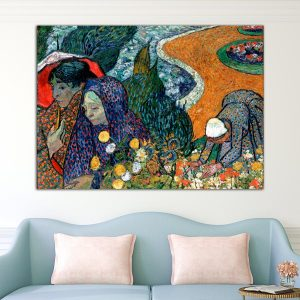 Οι κυρίες της Άρλ – Memory of the Garden at Etten (Ladies of Arles), Vincent Van Gogh – Αντίγραφο πίνακας σε καμβά