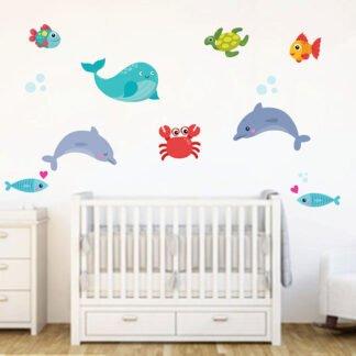 Ψαράκια νο2 αυτοκόλλητο τοίχου