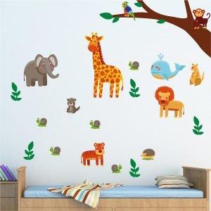Ζώα της ζούγκλας νο2 αυτοκόλλητα τοίχου