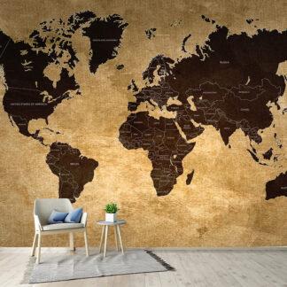 Ταπετσαρία τοίχου World Map X