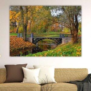 Φθινοπωρινό τοπίο πίνακας σε καμβά