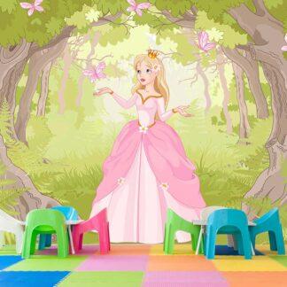 Παιδική φωτοταπετσαρία τοίχου Princess