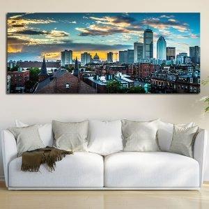 Πανοραμικός πίνακας σε καμβά Βοστώνη