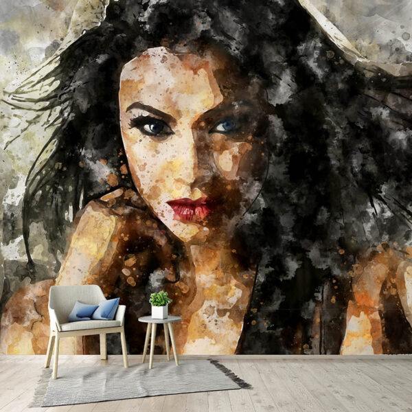Ταπετσαρία τοίχου Abstract Woman