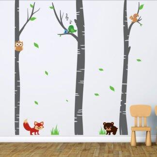 Αυτοκόλλητο τοίχου animal forest