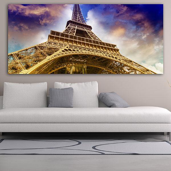 Πανοραμικός πίνακας σε καμβά ο πύργος του Άιφελ