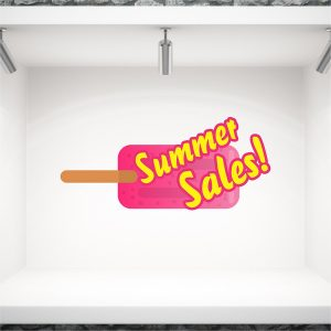 Αυτοκόλλητο καλοκαιρινής βιτρίνας προσφορών Ξυλάκι Summer Sales