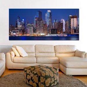 New York No3 πανοραμικός πίνακας σε καμβά
