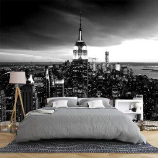 Ταπετσαρία τοίχου New York No3 Black and White (Νεα Υόρκη νο3 ασπρο και μαυρο)
