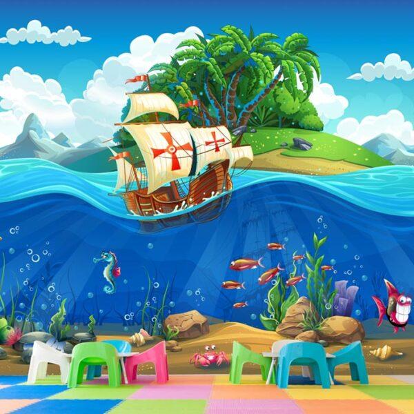 Παιδική φωτοταπετσαρία τοίχου πειρατικό καράβι