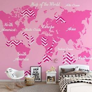 Παιδικη ταπετσαρία ο χάρτης του κόσμου No 5
