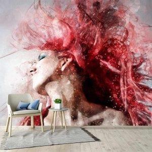 Ταπετσαρία τοίχου Pink Hair