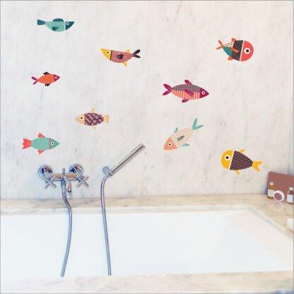 Ψαράκια αυτοκόλλητο τοίχου