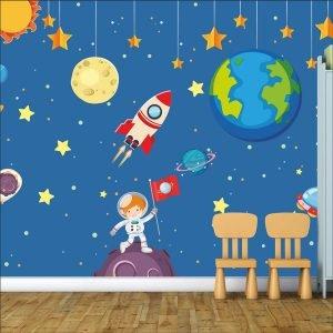 Διάστημα – Space παιδική φωτοταπετσαρία τοίχου