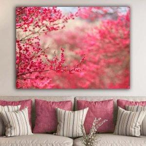 Spring Blossom Ροζ πίνακας σε καμβά