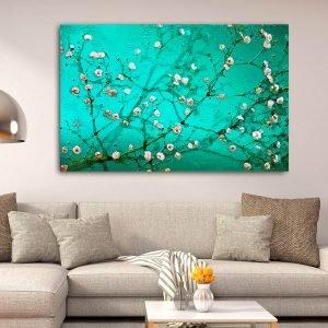 Turquoise Blossom πίνακας σε καμβά