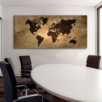 Πανοραμικός πίνακας σε καμβά world map X