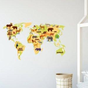 Χάρτης αυτοκόλλητο τοίχου