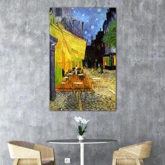 Βεράντα καφενείου τη νύχτα, Vincent Van Gogh – αντίγραφο πίνακας σε καμβά