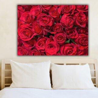 Κόκκινα τριαντάφυλλα πίνακας σε καμβά