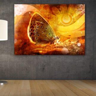 Ψυχεδελική πεταλούδα πίνακας σε καμβά