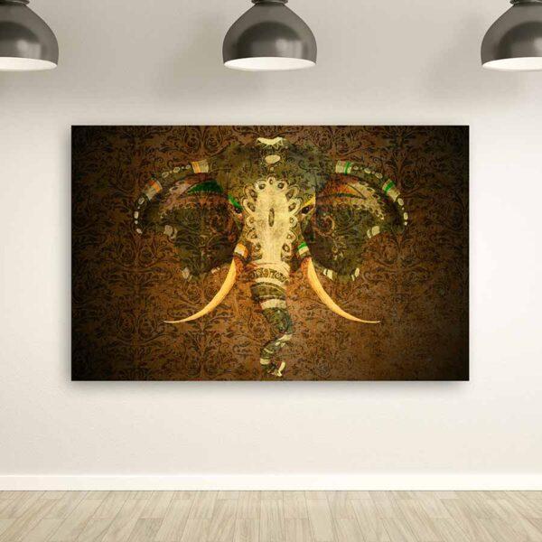 Vintage Elephant πίνακας σε καμβά